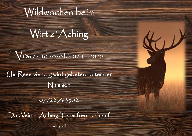 Willkommen beim Wirt z'Aching!